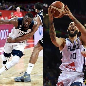 """""""5 prieš 5"""": akinantis NBA žaidėjų spindesys JAV ir Prancūzijos rinktinėse"""