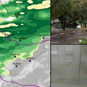Per Lietuvą slenka audra – jau smogė Šiauliams, Pasvaliui ir Panevėžiui