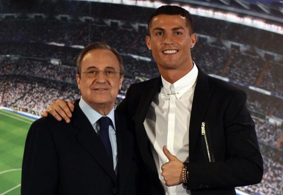Florentino Perezas ir Cristiano Ronaldo (nuotr. SCANPIX)