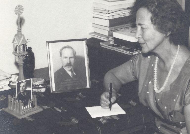 Jadvyga Tūbelienė Romoje. Apie 1970 m. Istorinės Prezidentūros Kaune archyvas