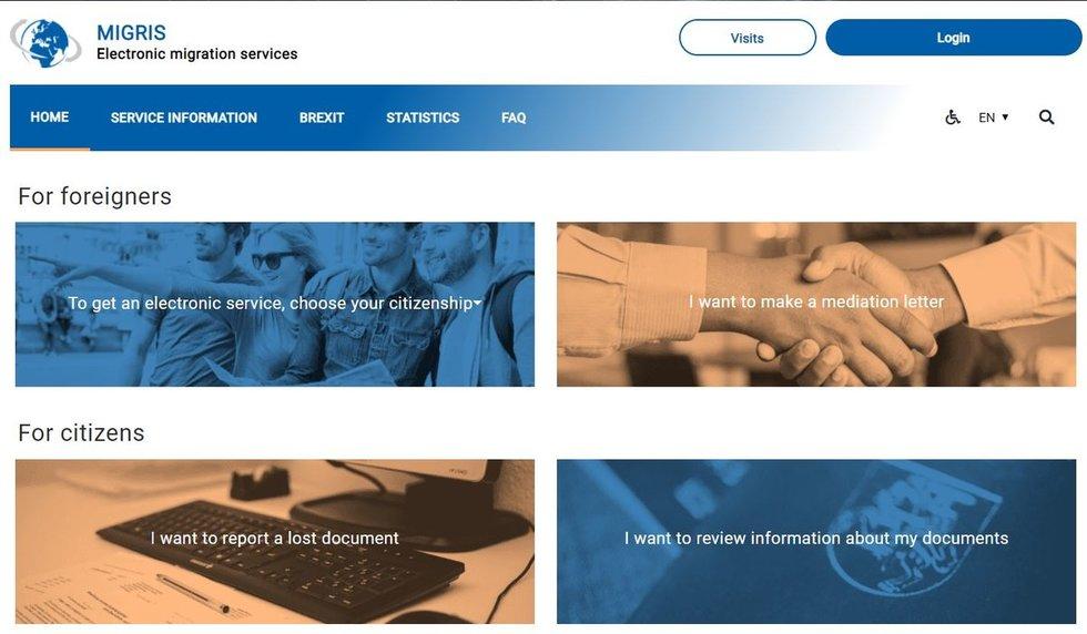 Migracijos departamento svetainė