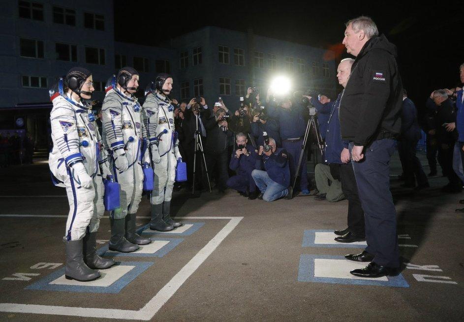 Rusų kosmonautai (nuotr. SCANPIX)