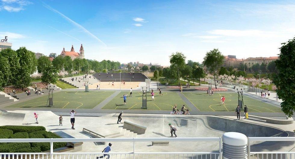 Kaip atrodys zona prie Baltojo tilto (Vilniaus m. savivaldybės nuotr.)