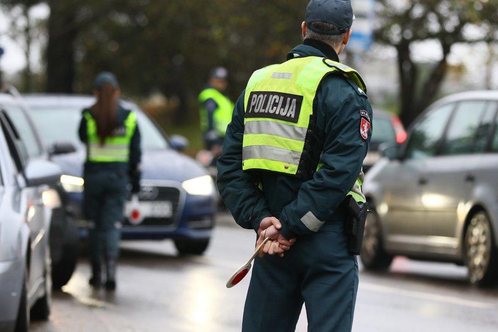 Sekmadienį Vilniuje vyko policijos reidai