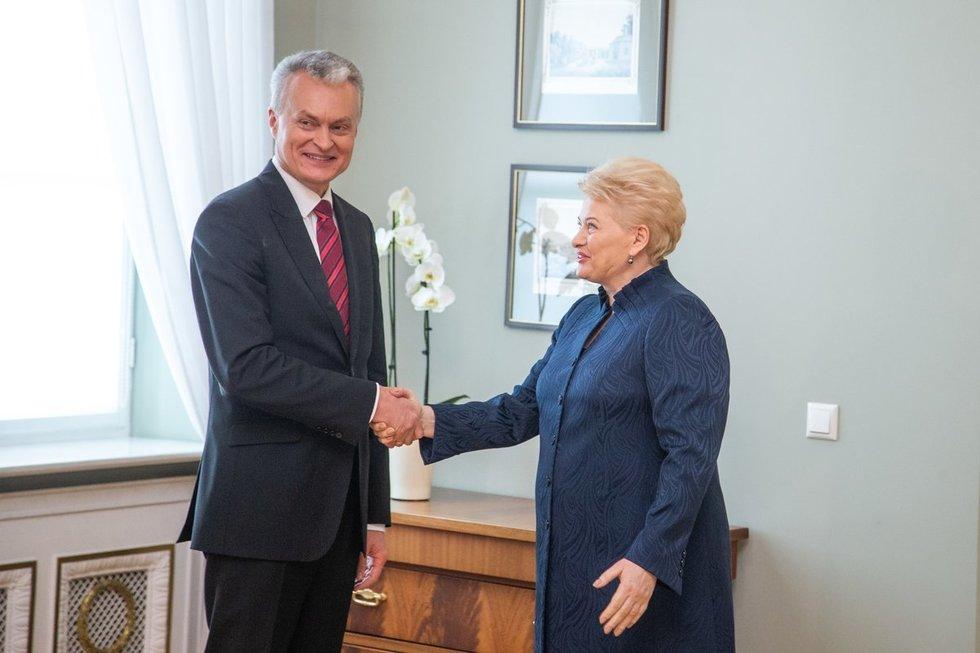 Gitanas Nausėda ir Dalia Grybauskaitė (J. Auškelis/fotodiena.lt)