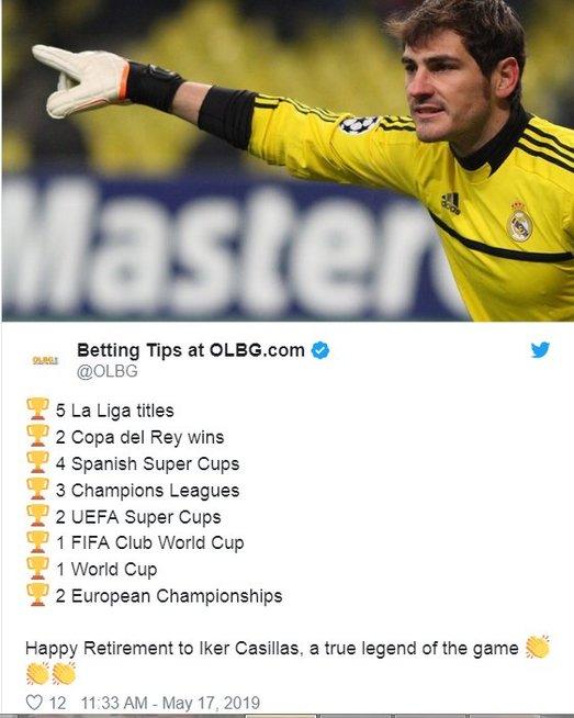 I. Casillaso karjeros skaičiai (nuotr. Twitter)