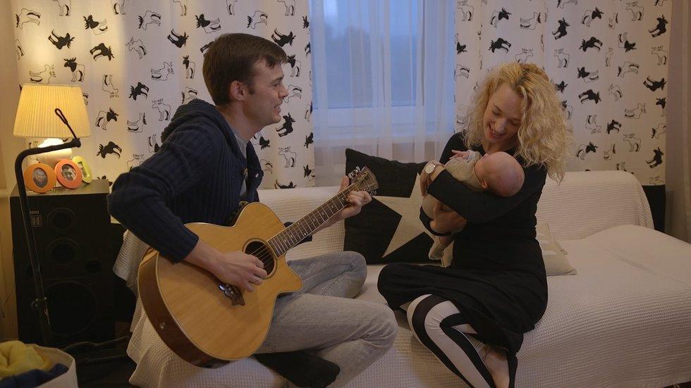 Justina Žiogaitė su vyru Arnu Butkumi (nuotr. TV3)