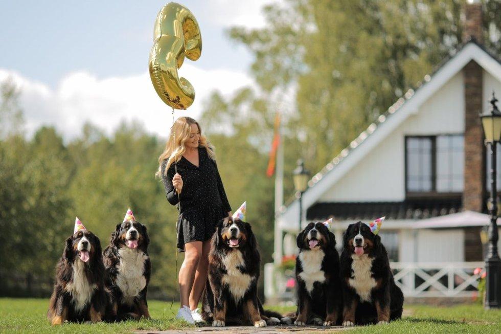 Monika Juodeikaitė iškepė specialiai šunims skirtą daržovių ir varškės tortą. (nuotr. TV3)