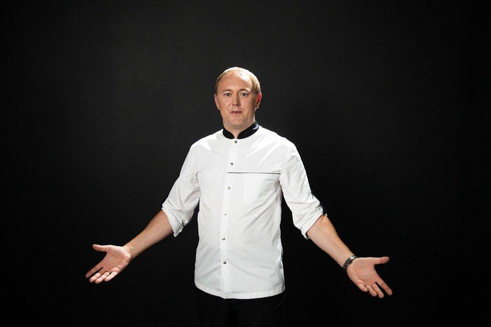 """Virtuvės šefas Tomas Rimydis. Laidos """"La maistas"""" filmavimo užkulisiai"""