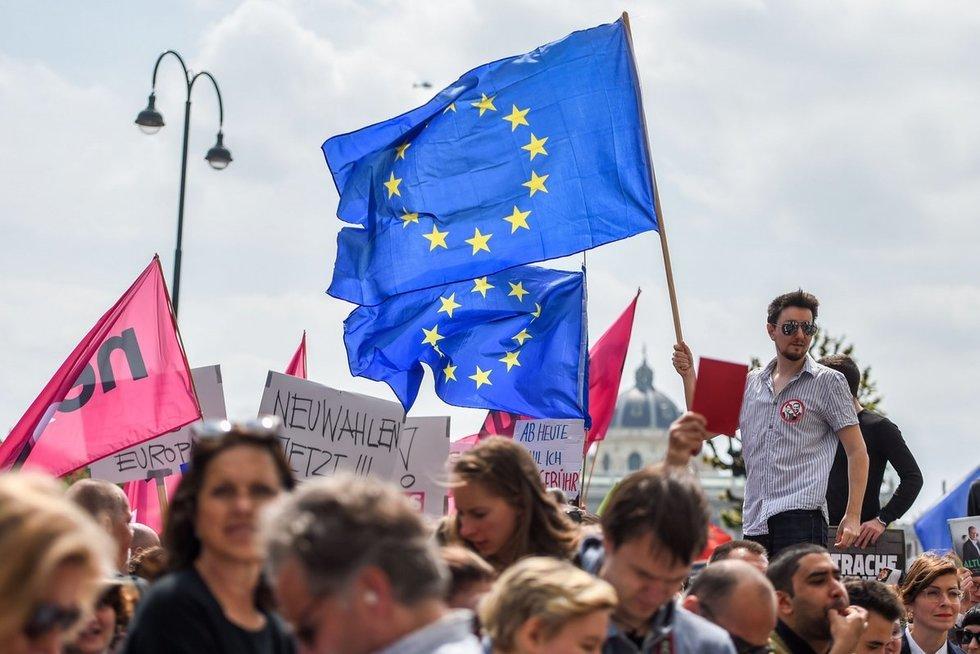 Protestai Austrijoje (nuotr. SCANPIX)