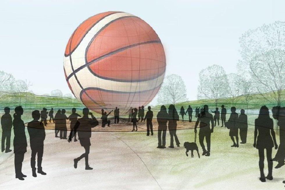 """""""Krepšinio namai"""": pristatymas (nuotr. Gamintojo)"""
