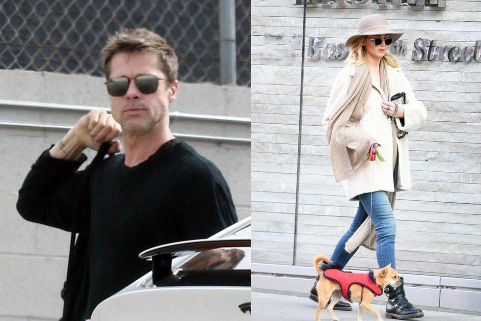 Bradas Pittas, Jennifer Lawrence (nuotr. Vida Press)