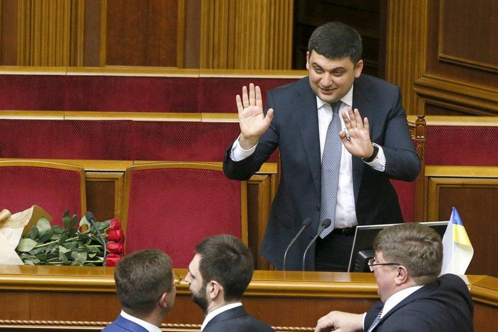 Ukrainos parlamentas patvirtino naujos sudėties vyriausybę (nuotr. SCANPIX)