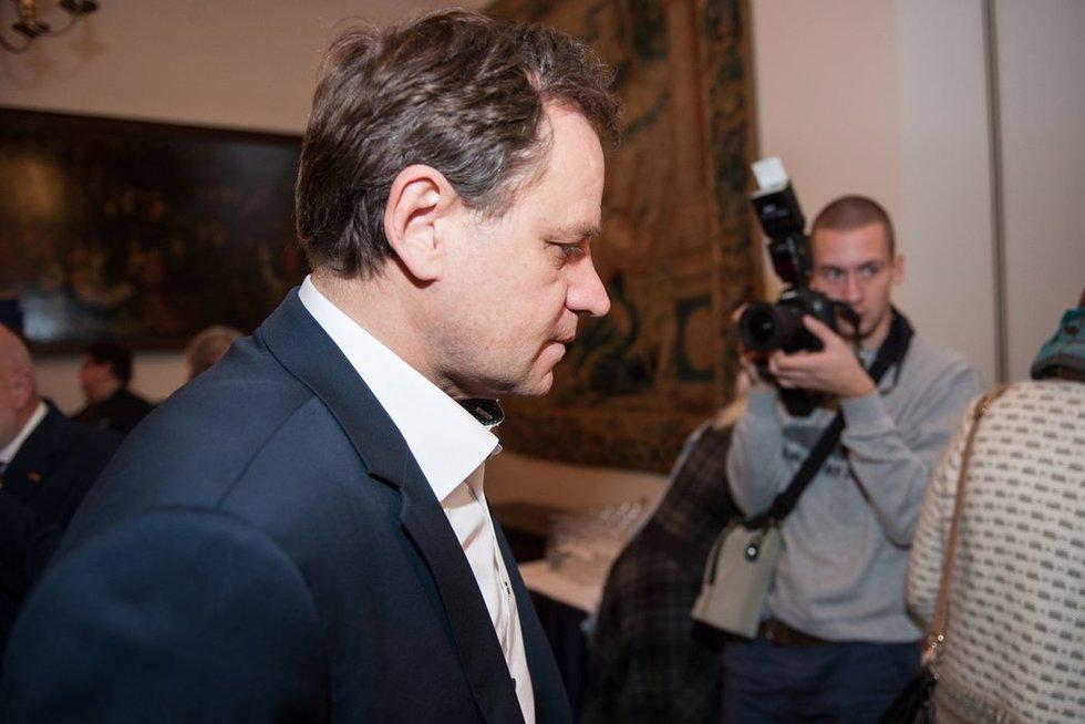 Lietuvos lenkų rinkimų akcija-Krikščioniškų šeimų sąjunga spaudos konferencijoje rinkimų rezultatams aptarti (nuotr. Fotodiena.lt)