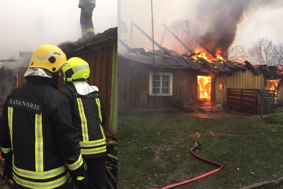 Po gaisro šeima liko be namų (Nuotr.Šilalės rajono savivaldybės priešgaisrinė tarnyba)