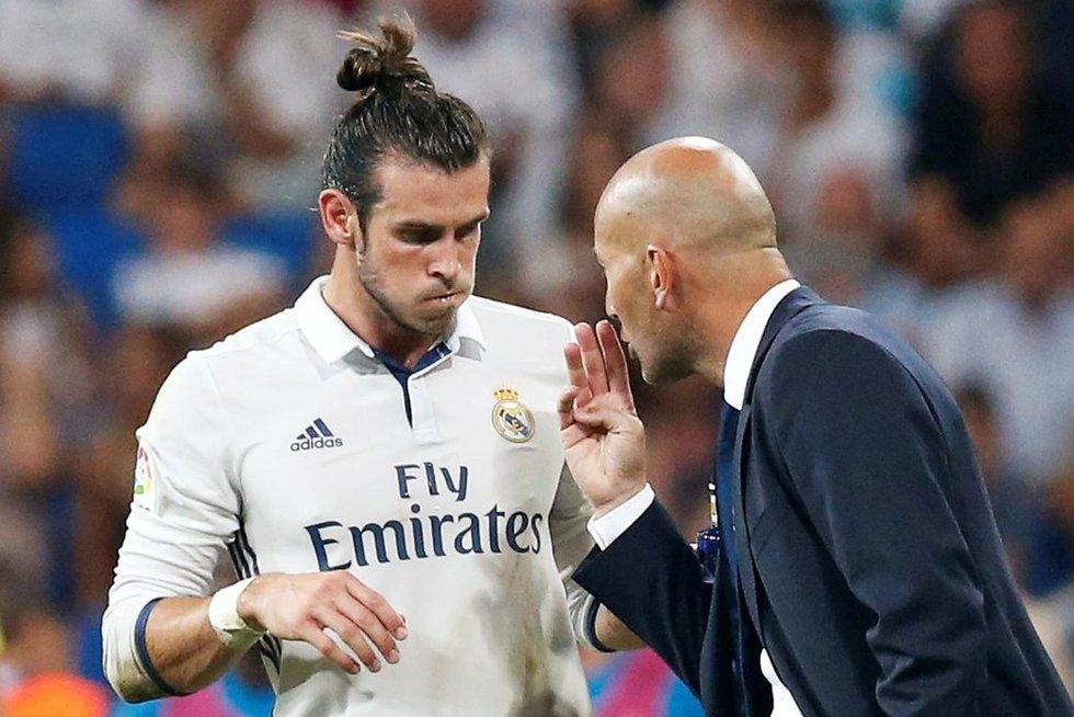 Garethas Bale'as ir Zinedine'as Zidane'as (nuotr. SCANPIX)