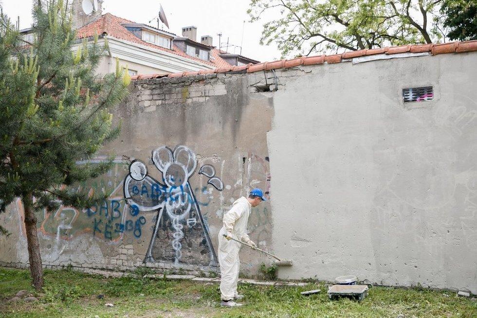 Šiemet Vilniuje bus nuvalyta rekordiškai daug grafičių (nuotr. Sauliaus Žiūros)