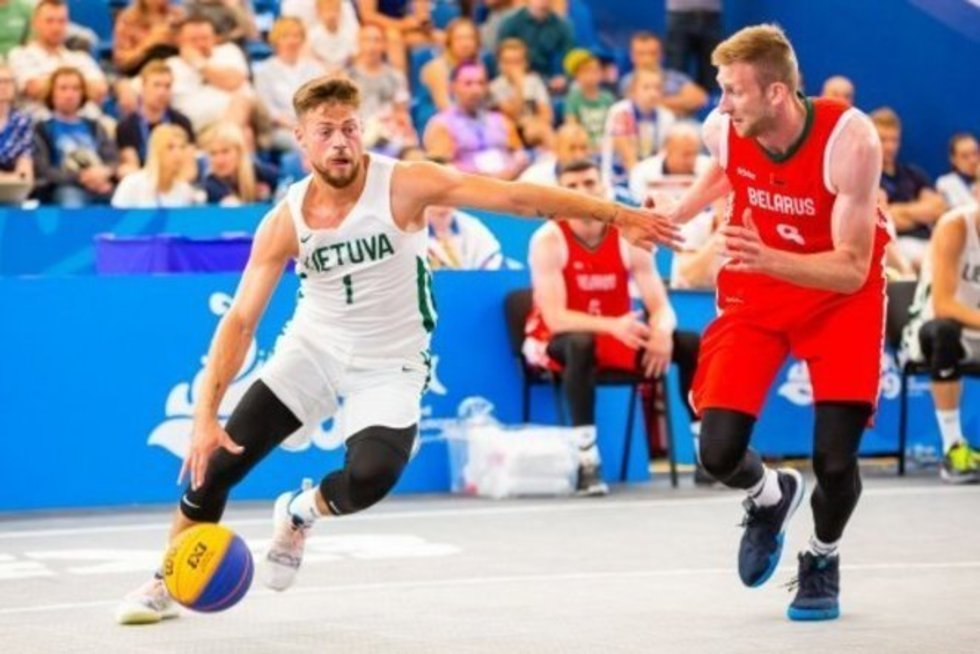 3x3 Europos žaidynių akimirka (nuotr. Organizatorių)