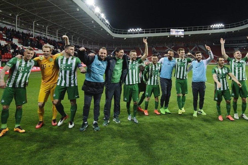 """Ferencvaros"" komanda (nuotr. YouTube)"