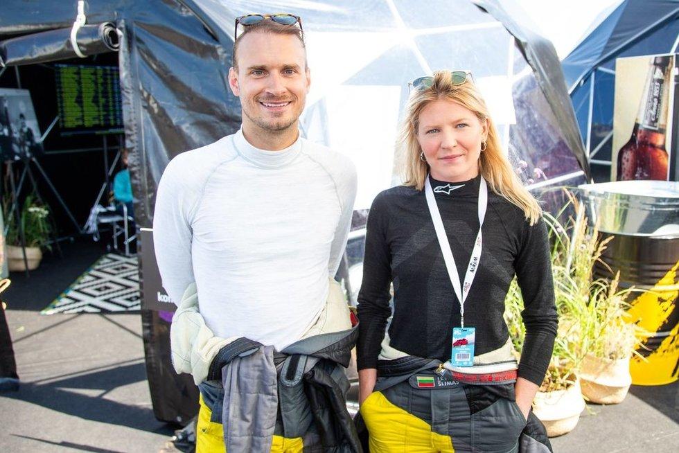 Andrius Šlimas ir Ieva Šlimas (nuotr. fotodiena/Justino Auškelio)