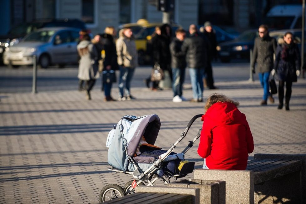 Mama su vaiku (nuotr. Fotodiena.lt)