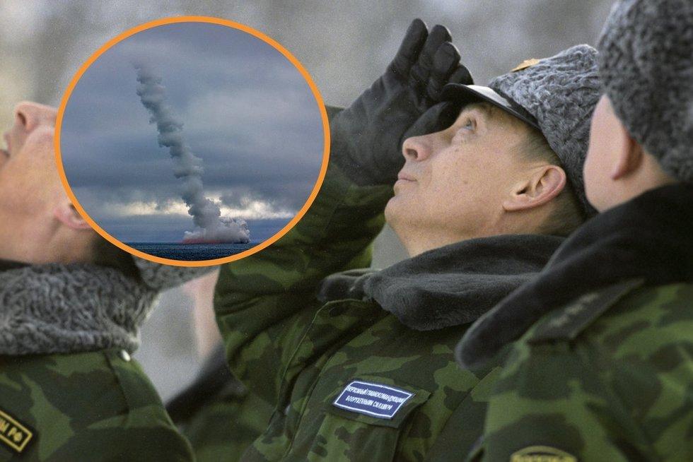 Rusija išbandė balistines raketas: paleisti pavyko 1 iš 2 (nuotr. SCANPIX) tv3.lt fotomontažas