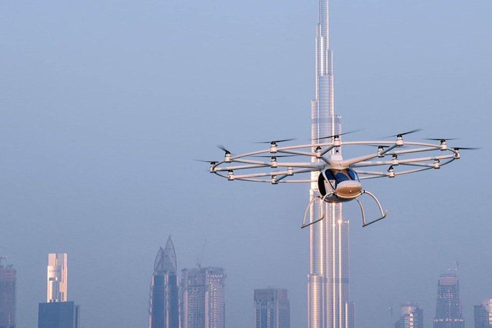 Dubajuje išbandytas pirmasis autonominis skraidantis taksi (nuotr. SCANPIX)