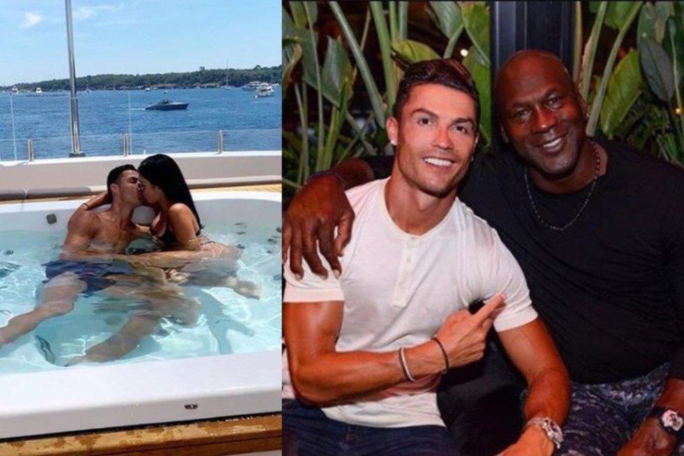 Cristiano Ronaldo ir Michaelas Jordanas (tv3.lt fotomontažas)