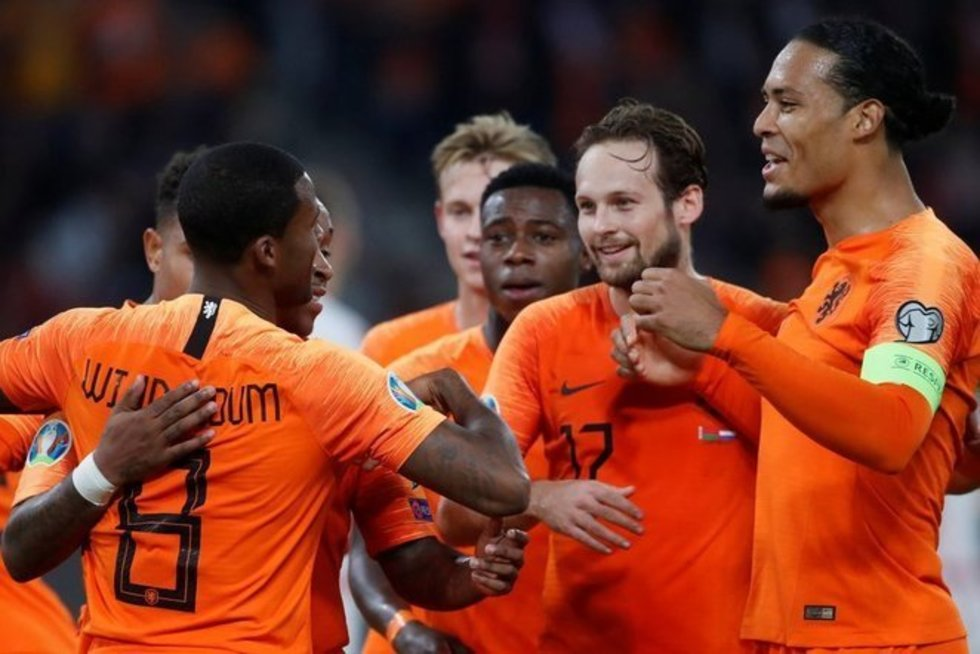 Nyderlandų futbolininkai (nuotr. SCANPIX)