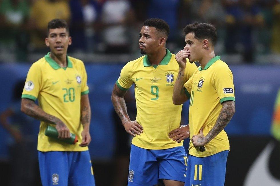 Brazilijos futbolo rinktinė (nuotr. SCANPIX)