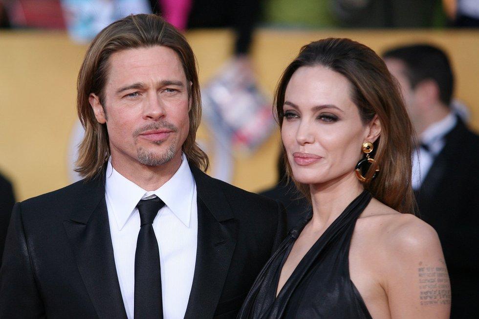 Angelina Jolie ir Bradas Pittas (nuotr. Vida Press)