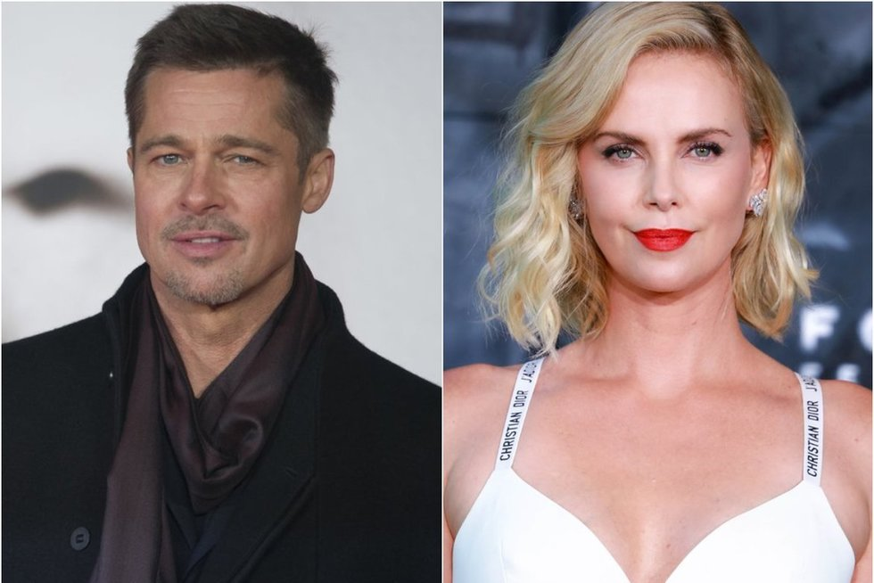 Bradas Pittas, Charlize Theron (tv3.lt fotomontažas)