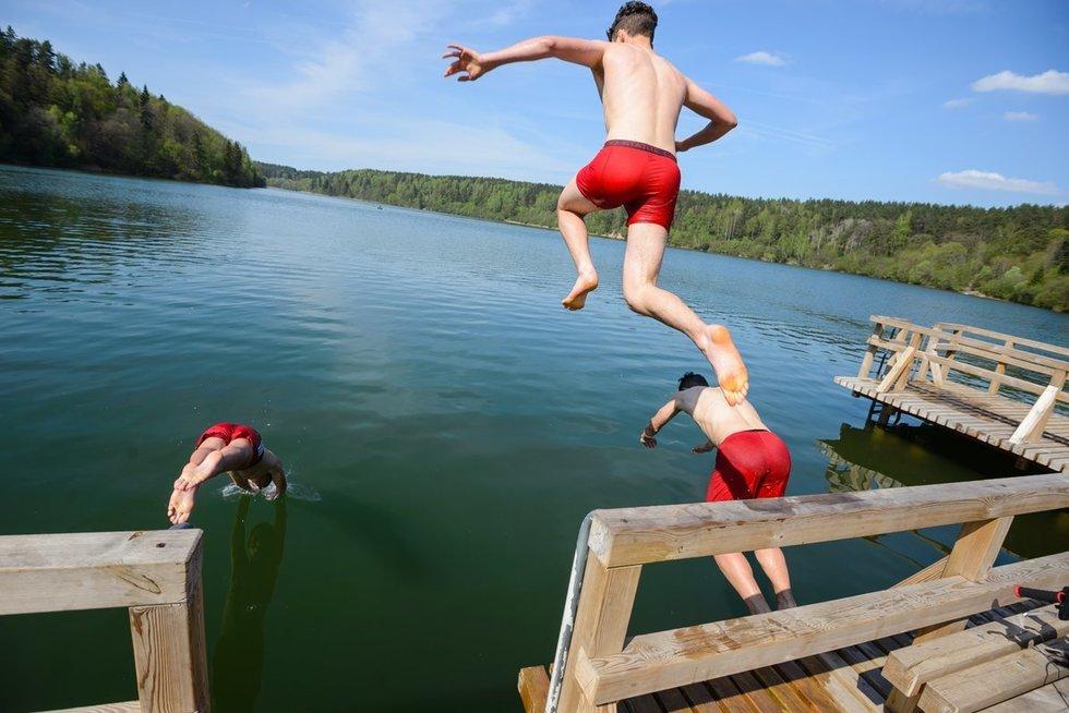 Laisvalaikis prie Žaliųjų ežerų (nuotr. Eimanto Genio)