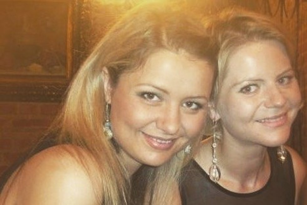 Beata Nicholson su sese Odeta (nuotr. asm. archyvo)