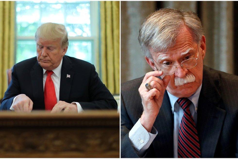 Donaldas Trumpas ir Johnas Boltonas (nuotr. SCANPIX) tv3.lt fotomontažas