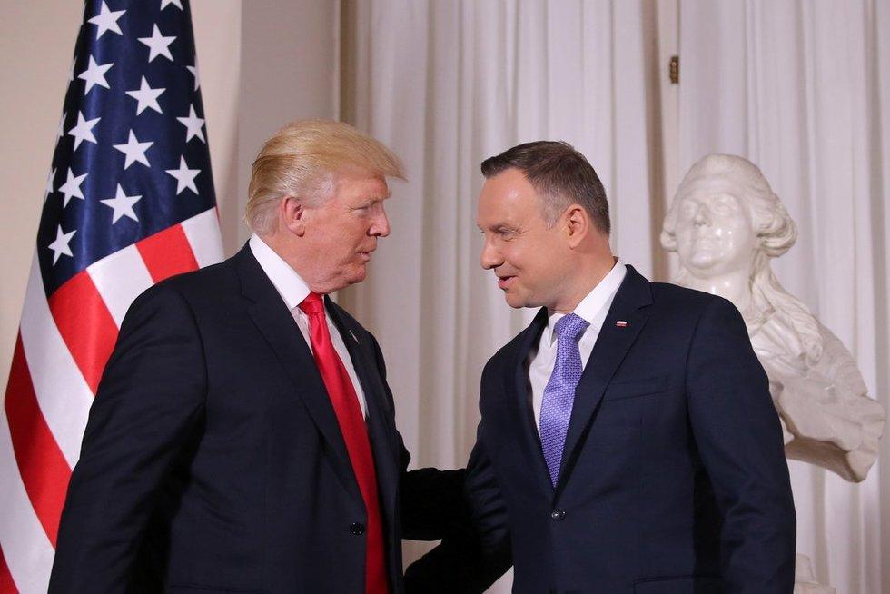 Donaldas Trumpas ir Andrzejus Duda (nuotr. SCANPIX)