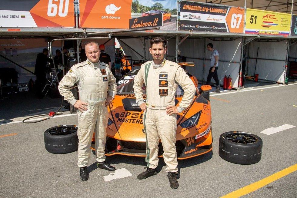 E.Gutaravičius (kairėje) ir M.Griška (nuotr. fotodiena/Justino Auškelio)