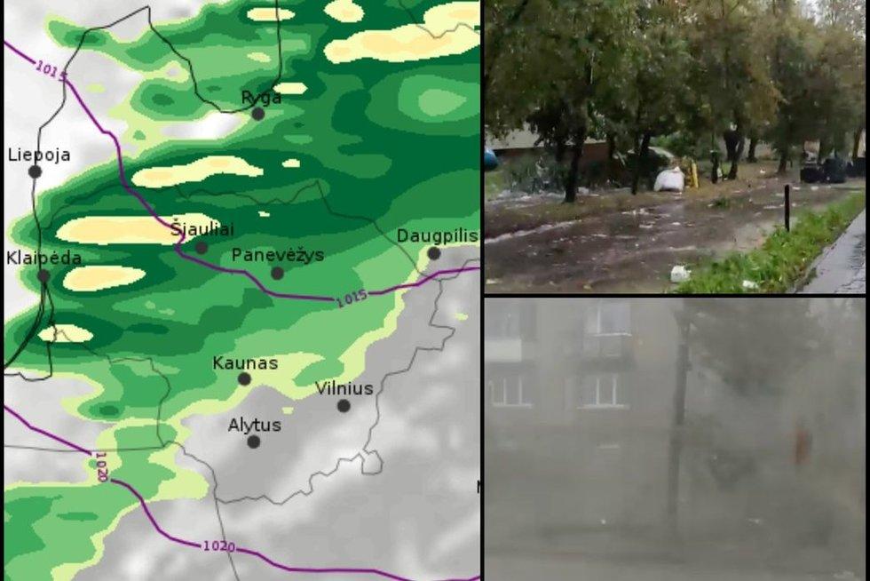 Per Lietuvą slenka audra (tv3.lt koliažas)