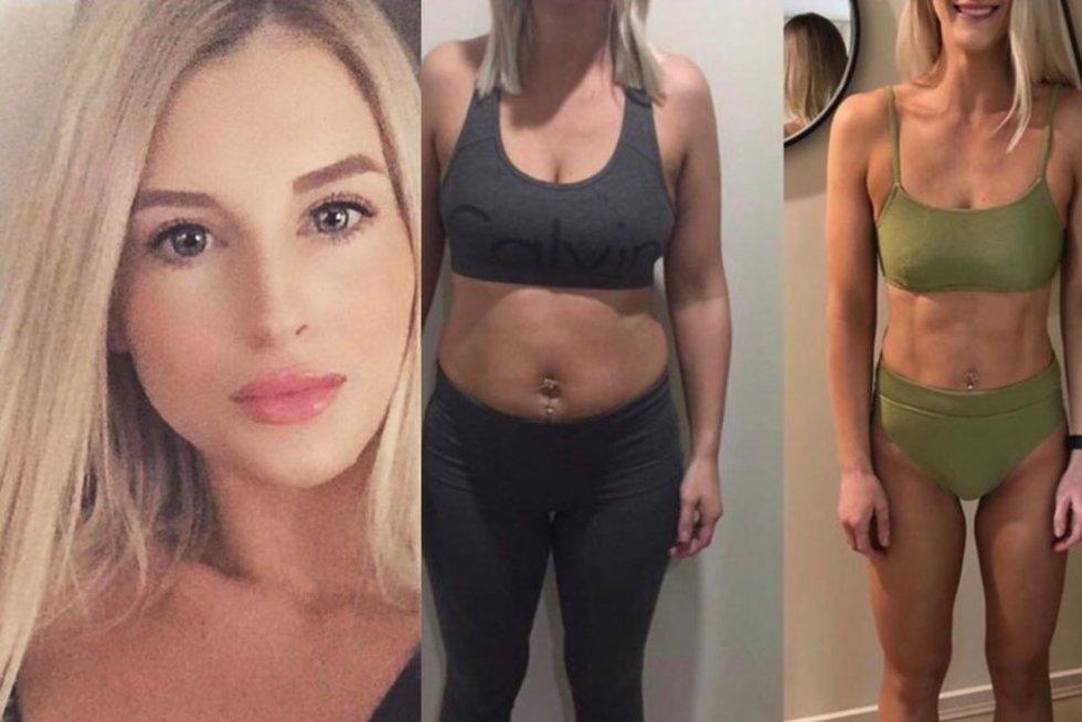 Tess svorio pokyčiai (nuotr. Instagram)