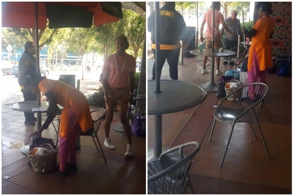Šokiruojantis reginys: įsiutęs vyras puolė studentę su metaline lazda (nuotr. socialinių tinklų)