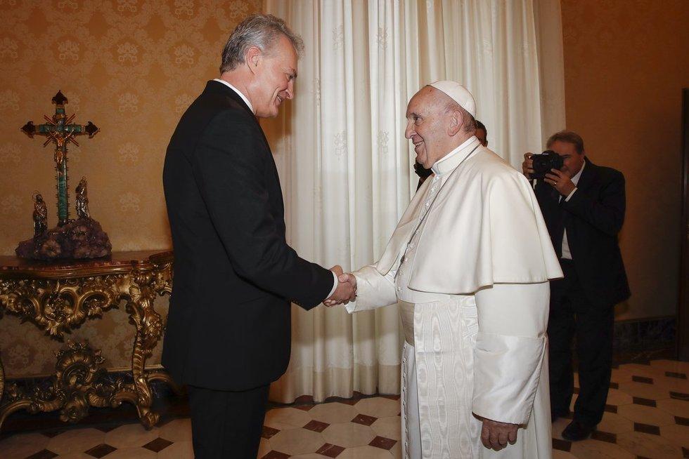 Gitanas Nausėda susitiko su popiežiumi Pranciškumi (nuotr. SCANPIX)