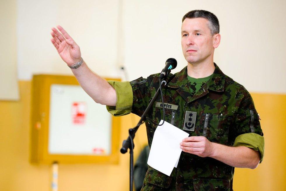 Kariuomenės vadas Valdemaras Rupšys (nuotr. Fotodiena/Karolis Kavolėlis)