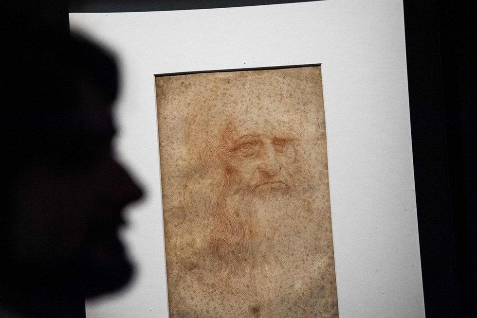 Italijoje bus eksponuojama Leonardo da Vinci plaukų sruoga (nuotr. SCANPIX)
