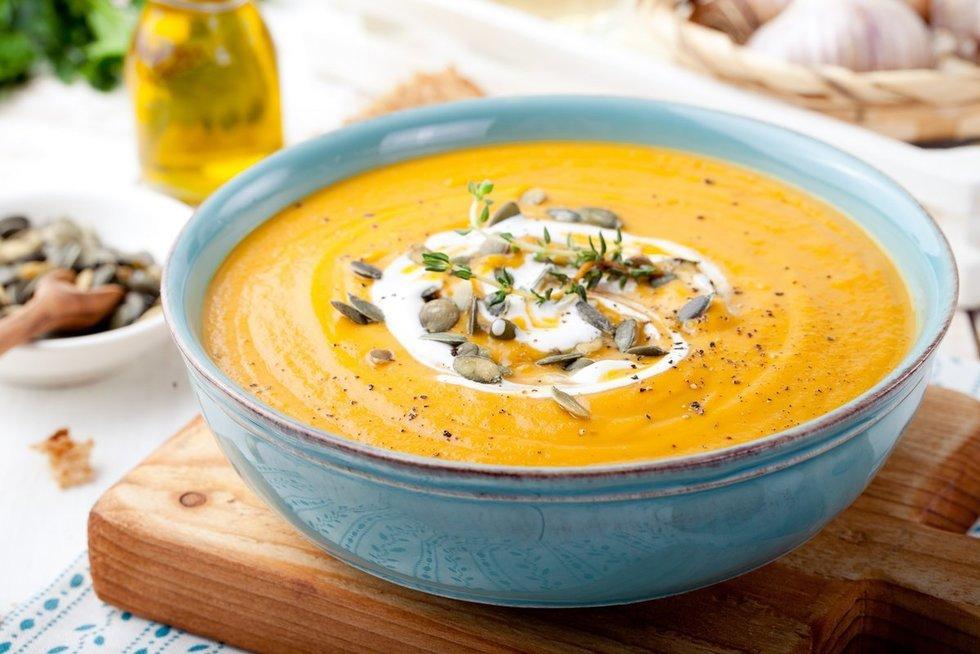 Trinta moliūgų sriuba. Shutterstock nuotr.