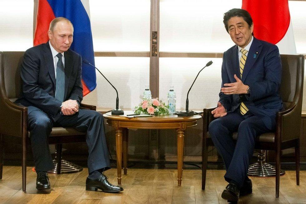 Vladimiras Putinas atvyko į Japoniją derėtis dėl salų (nuotr. SCANPIX)