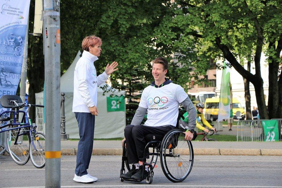Klaipėdoje vykusioje Olimpinėje dienoje didelis dėmesys skirtas neįgaliųjų sportui. vyko LPK nuotr.
