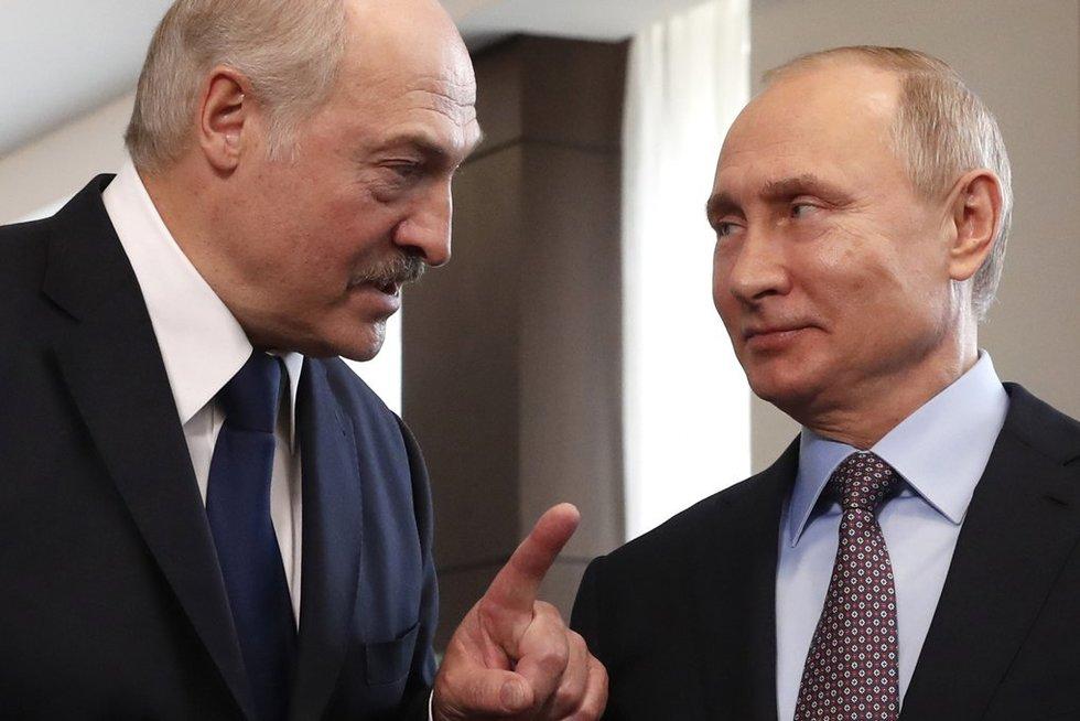 Neregėtas sujudimas Lukašenkos tvirtovėje: įtariamas Putino sąmokslas (nuotr. SCANPIX)