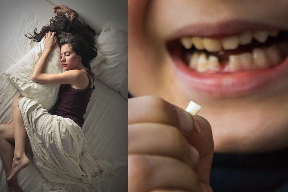 Danties iškritimas sapne  (nuotr. 123rf.com)