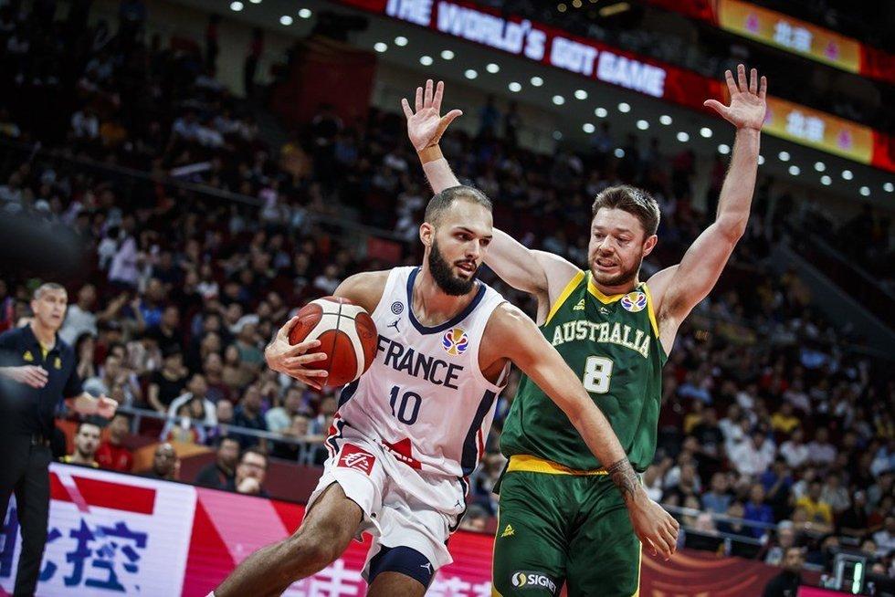Rungtynių Prancūzija-Australija akimirka (nuotr. FIBA)