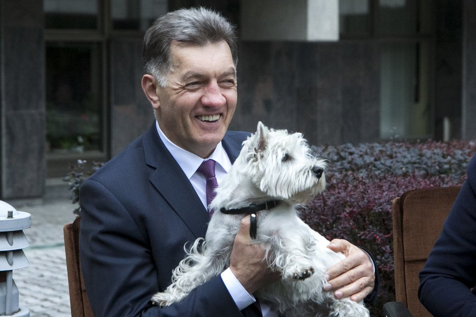 A. Butkevičius susitiko su gyvūnų gerove ir apsauga besirūpinančiais nevyriausybinių organizacijų atstovais bei jų augintiniais (nuotr. Tv3.lt/Ruslano Kondratjevo)